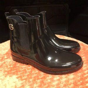 Michael Kors Ankle Rain Boots Black Size 9